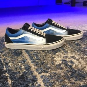 Custom painted vans old skools